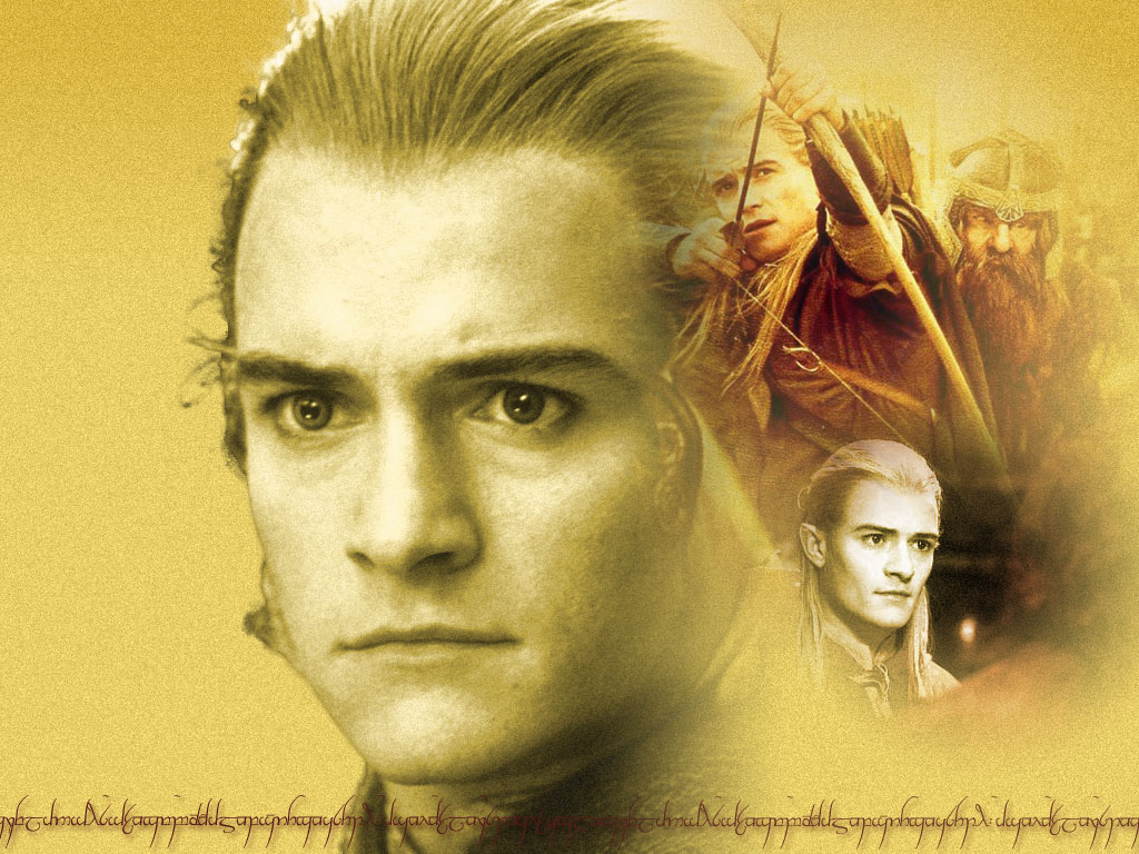 Three images of Legolas from Lord of the Rings at 1024x768